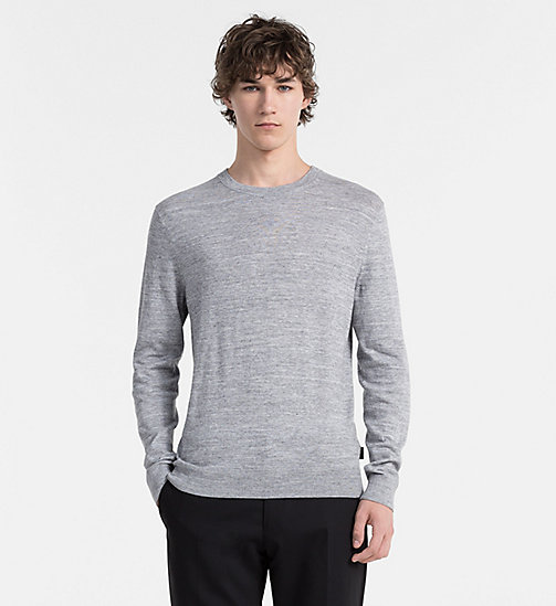 Cotton Cashmere Sweater - MID GREY HEATHER - CALVIN KLEIN JUMPERS - main image