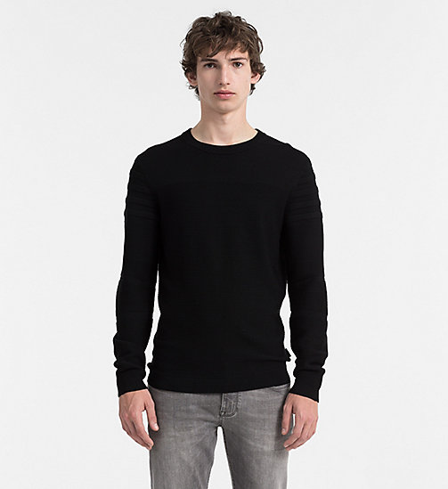 CALVIN KLEIN JEANS Superior Wool Sweater - PERFECT BLACK - CALVIN KLEIN JUMPERS - main image