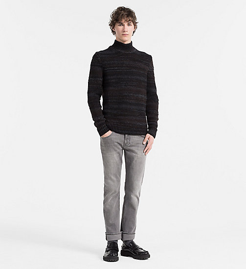 CALVIN KLEIN JEANS Wool Alpaca Roll Neck Sweater - GUNMETAL HEATHER - CALVIN KLEIN JUMPERS - detail image 1