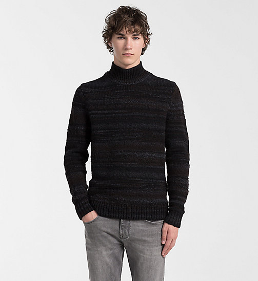 CALVIN KLEIN JEANS Wool Alpaca Roll Neck Sweater - GUNMETAL HEATHER - CALVIN KLEIN JUMPERS - main image