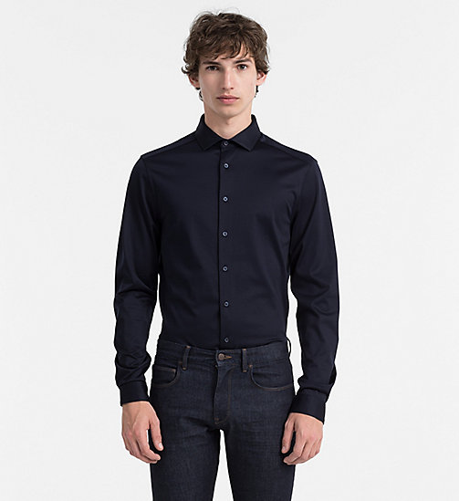 CALVINKLEIN Fitted Jersey Shirt - TRUE NAVY - CALVIN KLEIN CLOTHES - main image