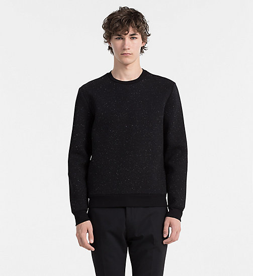 CALVINKLEIN Flecked Bonded Sweatshirt - PERFECT BLACK - CALVIN KLEIN CLASSICS TO FALL FOR - main image