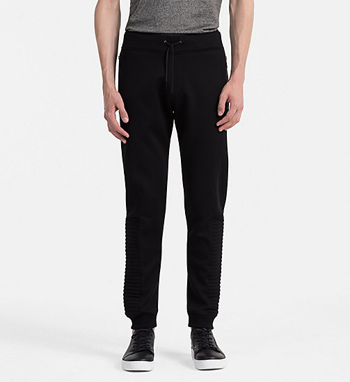 CALVINKLEIN Biker Sweatpants - PERFECT BLACK - CALVIN KLEIN JOGGING BOTTOMS - main image
