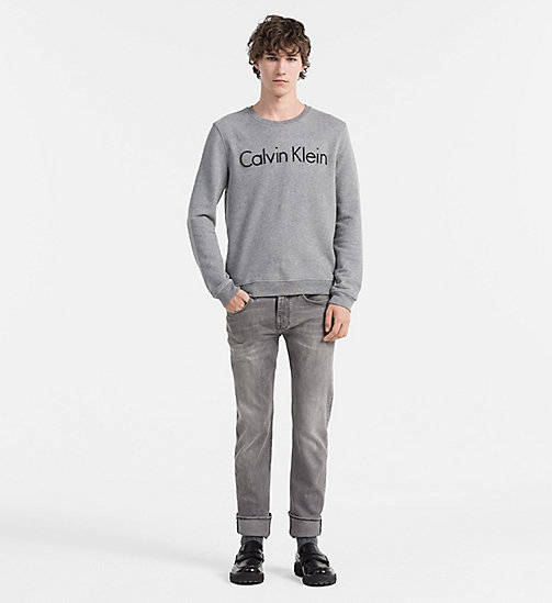 CALVINKLEIN Embroidered Logo Sweatshirt - MEDIUM GREY HEATHER - CALVIN KLEIN CLOTHES - detail image 1