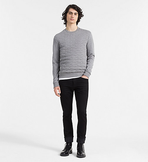 CALVINKLEIN Quilted Sweatshirt - MEDIUM GREY HEATHER - CALVIN KLEIN SWEATSHIRTS - detail image 1