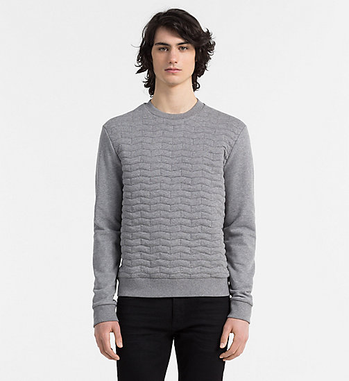 CALVINKLEIN Quilted Sweatshirt - MEDIUM GREY HEATHER - CALVIN KLEIN SWEATSHIRTS - main image
