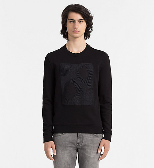 CALVINKLEIN Embroidered Sweatshirt - PERFECT BLACK - CALVIN KLEIN SWEATSHIRTS - main image