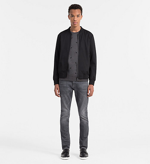 CALVINKLEIN Geborduurd sweatshirt - DARK GREY HEATHER - CALVIN KLEIN WORK TO WEEKEND - detail image 1