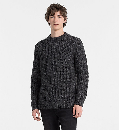 CALVINKLEIN Wool Chunky Knit Sweater - MID GREY HEATHER - CALVIN KLEIN CLASSICS TO FALL FOR - main image