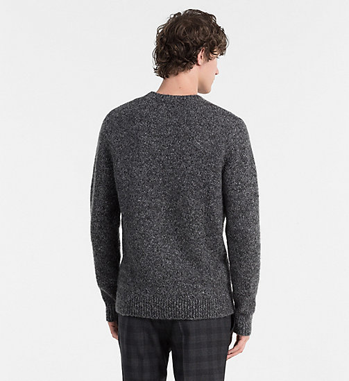CALVINKLEIN Heathered Mohair Wool Sweater - GUNMETAL HEATHER - CALVIN KLEIN JUMPERS - detail image 1