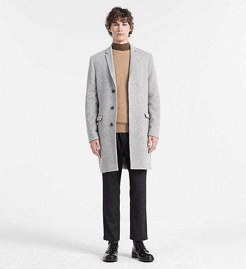 CALVINKLEIN Melange Wool Coat - MEDIUM GREY - CALVIN KLEIN COATS - detail image 1