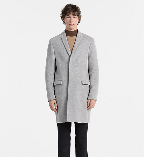 CALVINKLEIN Melange Wool Coat - MEDIUM GREY - CALVIN KLEIN COATS - main image