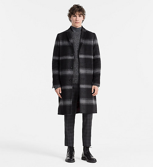 CALVINKLEIN Wool Check Coat - ASPHALT - CALVIN KLEIN CLASSICS TO FALL FOR - detail image 1