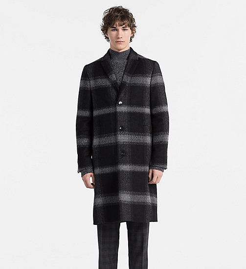CALVINKLEIN Wool Check Coat - ASPHALT - CALVIN KLEIN CLASSICS TO FALL FOR - main image