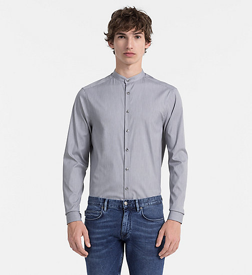 CALVINKLEIN Slim Textured Shirt - MEDIUM GREY - CALVIN KLEIN CLOTHES - main image