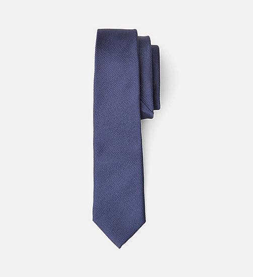 Slim Silk Tie - TRUE NAVY - CALVIN KLEIN  - main image