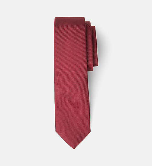 Slim Silk Tie - RHUBARB - CALVIN KLEIN SHOES & ACCESSORIES - main image