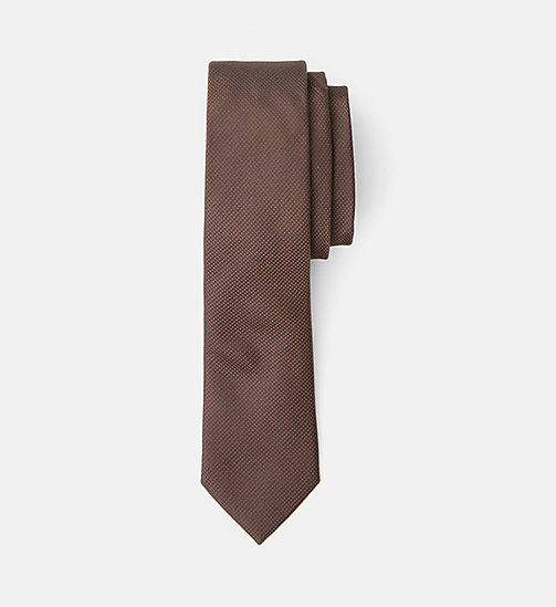 Slim Silk Tie - ZINFANDEL - CALVIN KLEIN SHOES & ACCESSORIES - main image