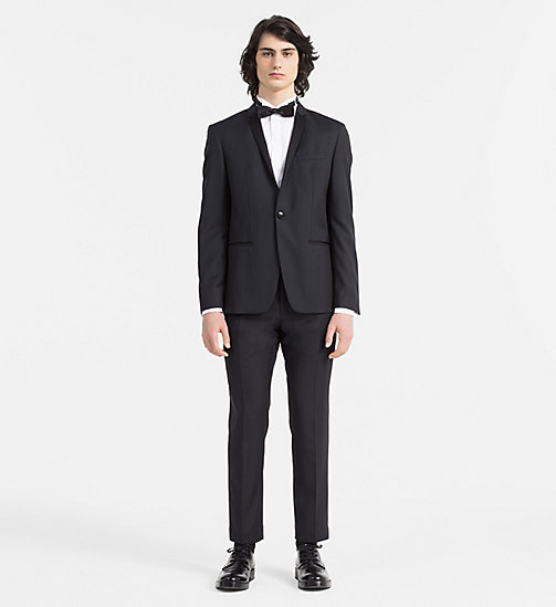 CALVINKLEIN Fitted Tuxedo Shirt - PERFECT WHITE - CALVIN KLEIN FORMAL SHIRTS - detail image 1