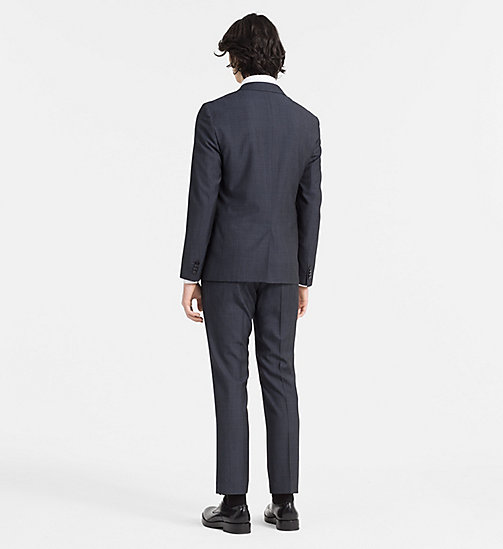 CALVINKLEIN Slim Textured Wool Suit - TRUE NAVY - CALVIN KLEIN SUITS - detail image 1
