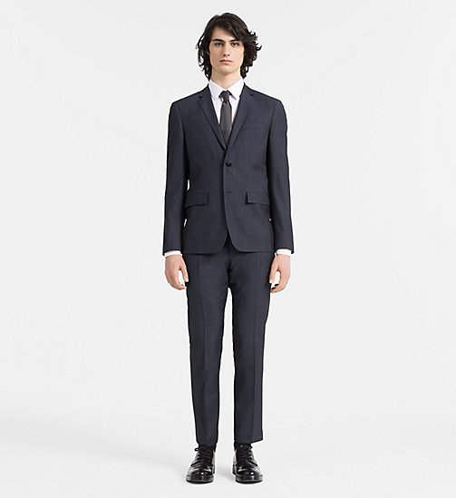 CALVINKLEIN Slim Textured Wool Suit - TRUE NAVY - CALVIN KLEIN SUITS - main image