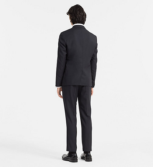 CALVINKLEIN Fitted Wool and Silk Tuxedo - PERFECT BLACK - CALVIN KLEIN CLOTHES - detail image 1