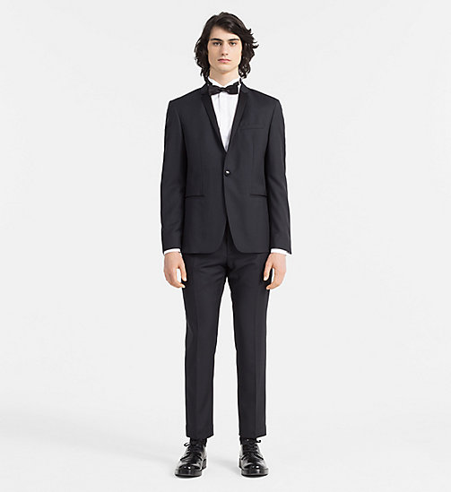 CALVINKLEIN Fitted Wool and Silk Tuxedo - PERFECT BLACK - CALVIN KLEIN CLOTHES - main image
