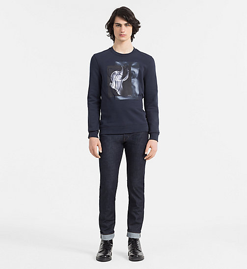 CALVINKLEIN Print Embroidered Sweatshirt - TRUE NAVY - CALVIN KLEIN SWEATSHIRTS - detail image 1