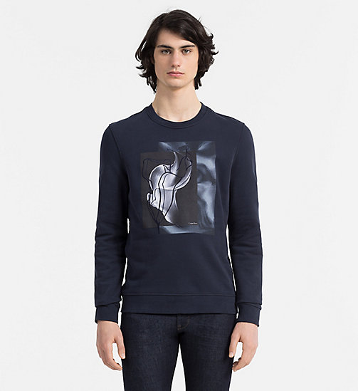 CALVINKLEIN Print Embroidered Sweatshirt - TRUE NAVY - CALVIN KLEIN SWEATSHIRTS - main image