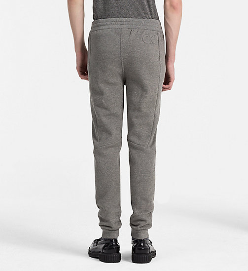 CALVINKLEIN Jogginghose aus Baumwollfleece - MEDIUM GREY HEATHER - CALVIN KLEIN KLEIDUNG - main image 1