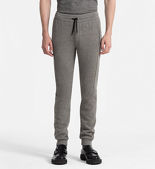 CALVINKLEIN Jogginghose aus Baumwollfleece - MEDIUM GREY HEATHER - CALVIN KLEIN KLEIDUNG - main image