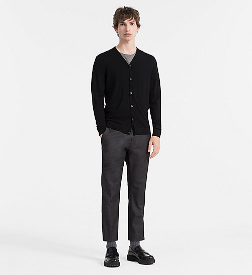 CALVINKLEIN Superior Wool Cardigan - PERFECT BLACK - CALVIN KLEIN  - detail image 1