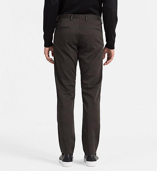 CALVINKLEIN Slim Stretch Satin Trousers - BLACK INK - CALVIN KLEIN TROUSERS - detail image 1