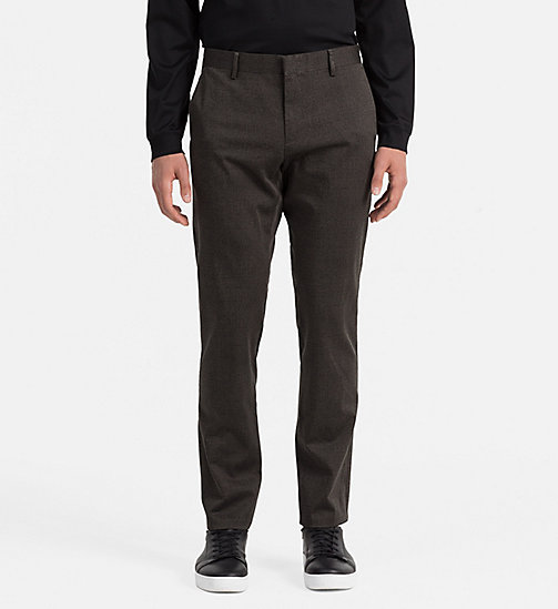 CALVINKLEIN Slim Stretch Satin Trousers - BLACK INK - CALVIN KLEIN TROUSERS - main image