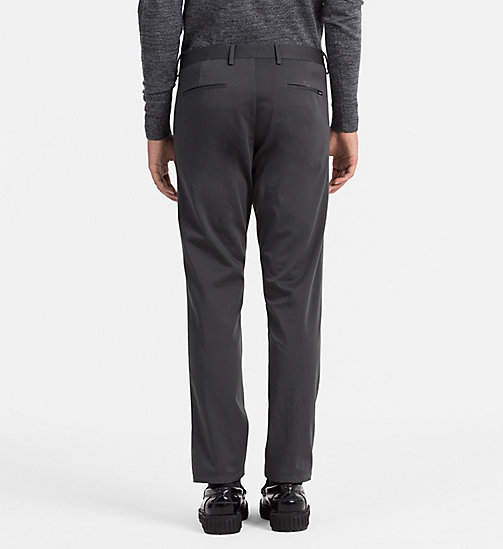 CALVINKLEIN Slim Stretch Satin Trousers - ASPHALT - CALVIN KLEIN CLASSICS TO FALL FOR - detail image 1