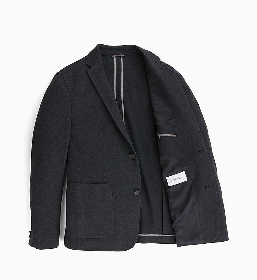 Calvin Klein - Fitted Piqué Jersey Blazer - 6