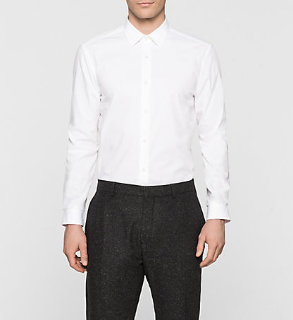 CALVIN KLEIN Fitted Dress Shirt - Walker K1EK100813105