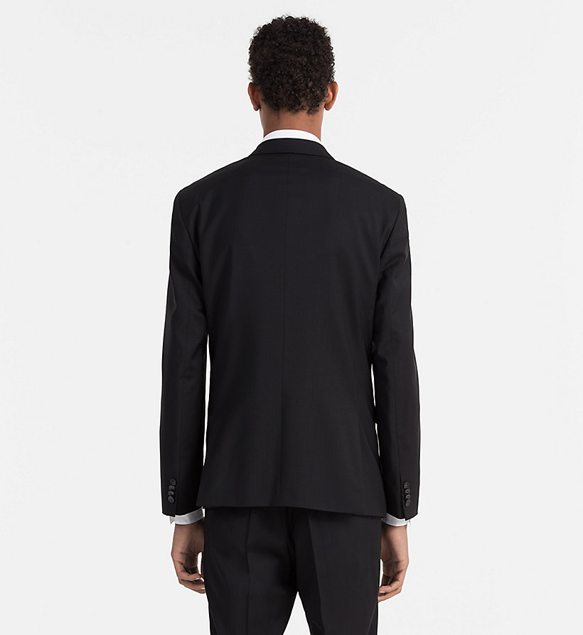 CALVINKLEIN Fitted Refined Wool Blazer - PERFECT BLACK - CALVIN KLEIN SUITS - detail image 2