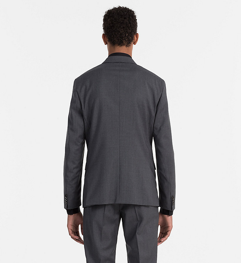 CALVINKLEIN Fitted Refined Wool Blazer - ASPHALT - CALVIN KLEIN SUITS - detail image 2