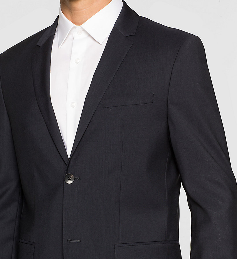 CALVINKLEIN Fitted Refined Wool Blazer - TRUE NAVY - CALVIN KLEIN SUITS - detail image 2