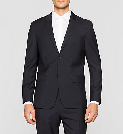 CALVIN KLEIN Fitted Refined Wool Blazer K1EK101789478