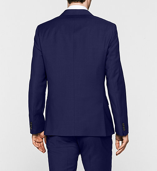 Fitted Refined Wool Blazer - INDIGO - CALVIN KLEIN SUITS - detail image 1