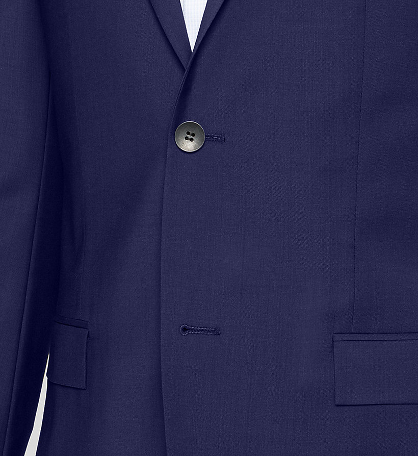 CALVINKLEIN Fitted Refined Wool Blazer - INDIGO - CALVIN KLEIN SUITS - detail image 2