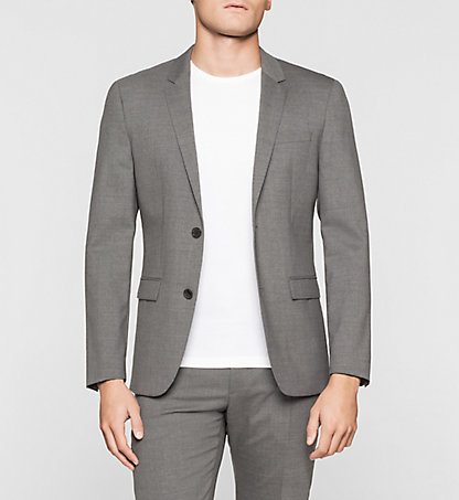 CALVIN KLEIN Slim Wool Stretch Blazer K1EK101790033