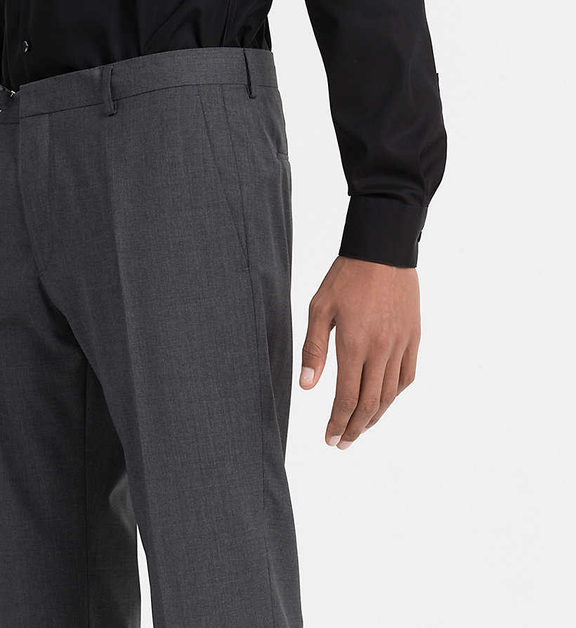 CALVINKLEIN Fitted Refined Wool Trousers - TRUE NAVY - CALVIN KLEIN SUITS - detail image 2