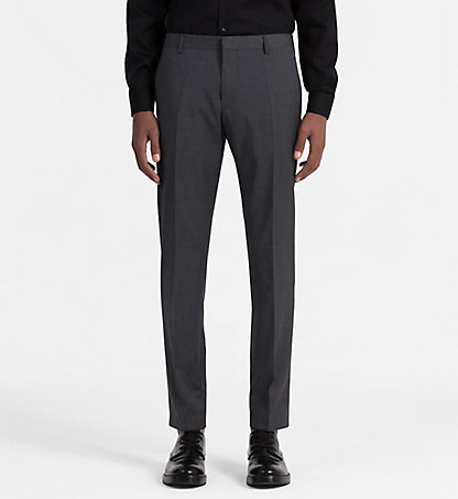 CALVIN KLEIN Fitted Wool Trousers - Paris K1EK101804024