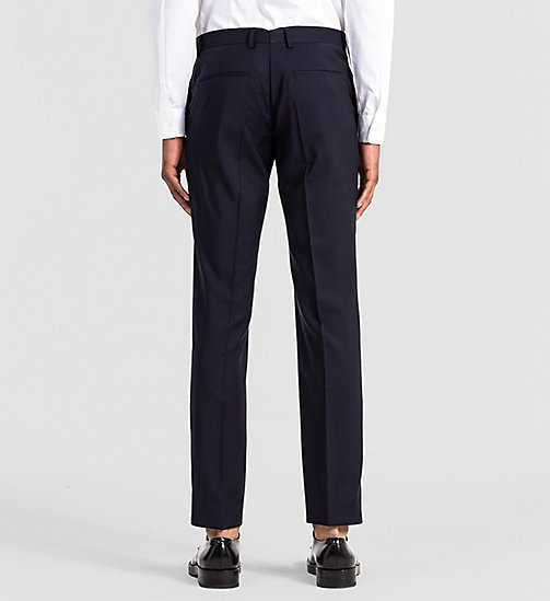 Fitted Refined Wool Trousers - TRUE NAVY - CALVIN KLEIN SUITS - detail image 1