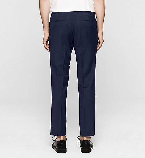 Fitted Refined Wool Trousers - INDIGO - CALVIN KLEIN  - detail image 1