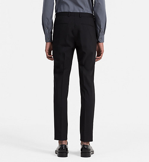 Slim Wool Trousers - PERFECT BLACK - CALVIN KLEIN SUITS - detail image 1