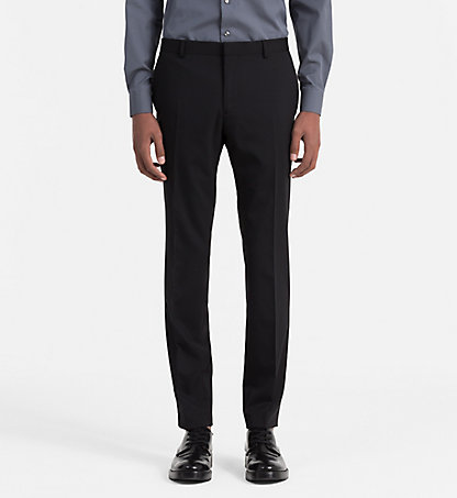 CALVIN KLEIN Slim Wool Trousers - Pittsburgh K1IK101922013